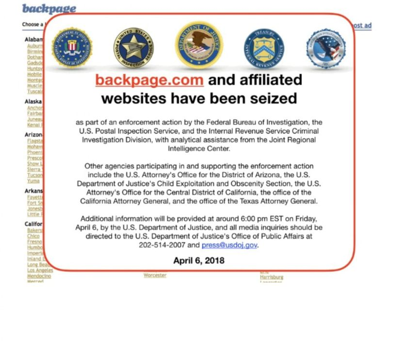 Bill introduced to study safety of sex workers after closure of Backpage